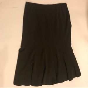 Brown Pleated Insight Skirt Size 10